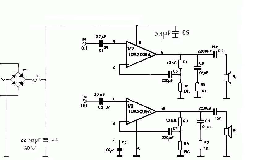 Schemi Elettrici Amplificatori Audio Con N : Schema elettrico amplificatore stereo hi fi font