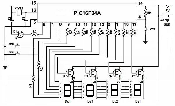 Schema Elettrico Orologio Temporizzatore : Sezione microcontrollers piccardino orologio