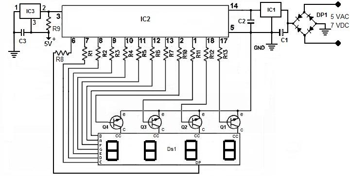Schema Elettrico Tergicristallo 5 Fili : Sezione microcontrollers termometro digitale by pic f a