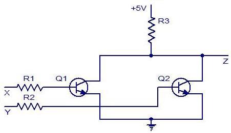 Sezione esperimenti le porte logiche circuiti equivalenti for Porte nand cmos